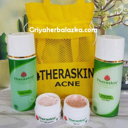 cream theraskin paket acne - jerawat bpom, griya herbal azka